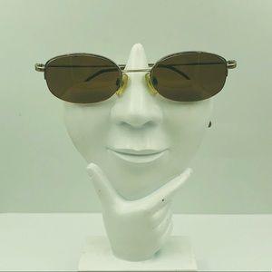 Anne Klein K102B Silver Oval Sunglasses Frames